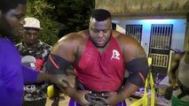 It takes eight chickens a day to become Africa's strongest man