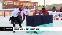 En Russie, les batailles de boules de neige sont affaires de professionnels