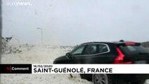 La tempête Dennis frappe l'extrême ouest breton
