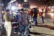 इटावा -बकेवर पुलिस ने कई बाइकों के काटे चालान,1 बाईक को किया गया सीज