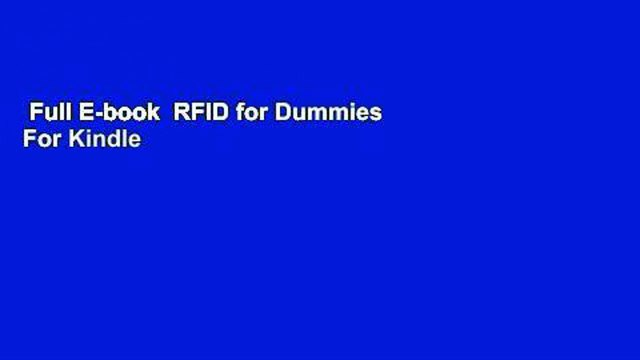 Full E-book  RFID for Dummies  For Kindle