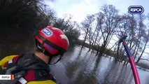 Watch: Crew Navigates Dangerous Floodwaters To Rescue Horses