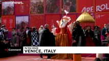 Thousands watch 'flight of angel' at Venice carnival