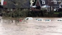 Shocking Footage Shows Floodwaters Sweeping Away Cars in the U.K.