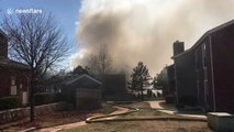 Fire rages and engulfs in an Oklahoma complex