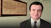 Report TV - Kryeministri Albin Kurti uron qytetarët e Kosovës për 12 vjetorin e Republikës