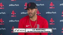 """J.D. Martinez Says Alex Cora """"Never Influenced Us In Any Way"""" On Sign-Stealing"""