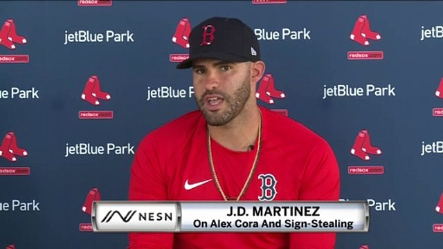 "J.D. Martinez Says Alex Cora ""Never Influenced Us In Any Way"" On Sign-Stealing"