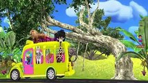 Learn Colors With Animal - Learn Wild Animals Go To Zoo Playground For Kids- Wheels On The Bus Nursery Rhymes