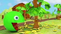 Learn Colors With Animal - Learn Colors with PACMAN and Farm Excavator Watermelon Surprise Toy Street Vehicle for Kid