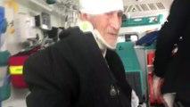 Yaşlı hastanın imdadına paletli ambulans yetişti