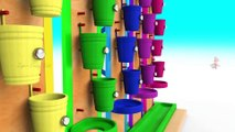 Learn Colors With Animal - Caterpillar Wooden Toy Hammer Balls 3D - Learn Colors for Children with Baby Kids Educational Toys