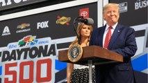 Trump Takes Lap Around The Daytona 500 Race Track