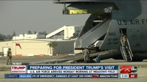 Preparing for the President Trump's arrival