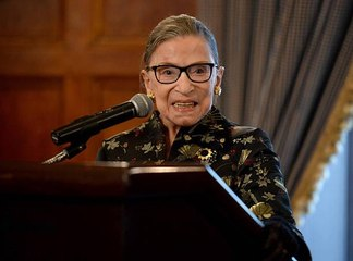 Ruth Bader Ginsburg's Sparkly Shoes Stole the Show at the Woman of Leadership Awards