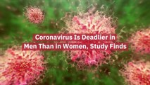 Men Will Have Difficulty With Coronavirus