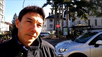 Yves Auberix, président du SASPP-PATS 74 à la mobilisation des pompiers à Annecy