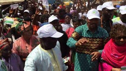 Réception du PGRP en campagne électorale à Koba
