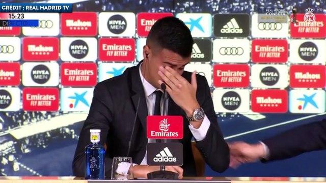 Reinier fond en larmes durant sa présentation au Real Madrid