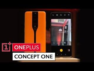ONEPLUS CONCEPT ONE - Prise en main du smartphone avec des capteurs photo invisibles à l'arrière