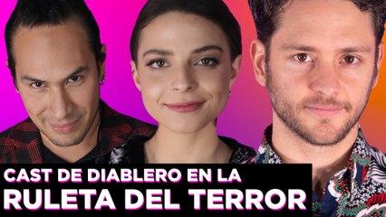 Gisselle Kuri, Christopher Uckermann y Horacio García de Diablero juegan a la Ruleta del Terror