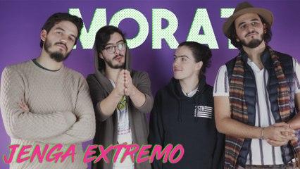Jugando jenga extremo con Morat