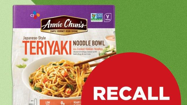 Annie Chun's Teriyaki Noodle Bowls Recalled Nationwide