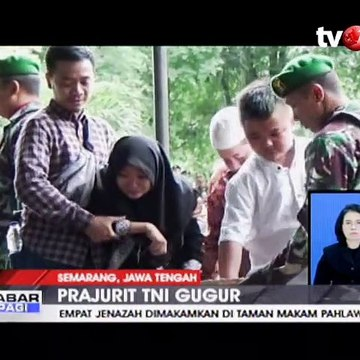 Pemakaman Militer 4 Prajurit TNI Korban Kecelakaan Heli