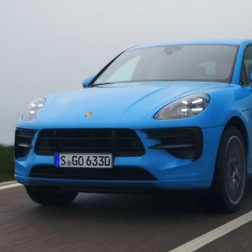 The new Porsche Macan GTS in Miami Blue Driving Video