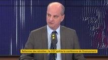 """La CGT claque la porte de la conférence de financement : """"Rien de surprenant"""" pour Jean-Michel Blanquer qui juge le syndicat """"à contre-emploi"""""""