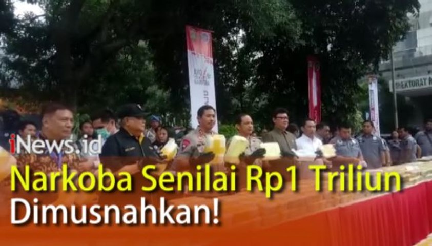 Video Pemusnahan Narkoba Senilai Rp1 Triliun di Mapolda Metro Jaya