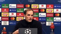 Football - Champions League - Thomas Tuchel en conférence de presse après Dortmund 2-1 PSG