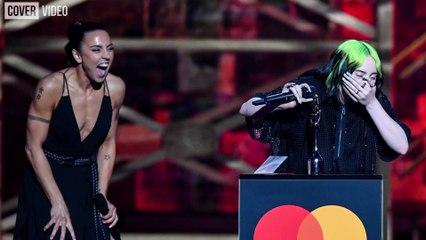 Billie Eilish breaks down during BRIT Awards acceptance speech