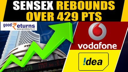 Indices snap 4-day losing streak, Sensex rebounds over 428 pts