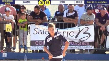 Après poules GARAGNON vs BEYDON : International à pétanque de Bourg-Saint-Andéol septembre 2019