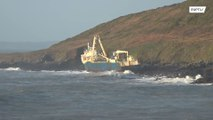 'Ghost' ship washed ashore by Storm Dennis in Ireland