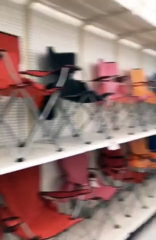 Department Store Fully Stocked With Folding Chairs