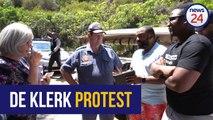 WATCH #DeKlerkMustFall protesters demand apology from former president