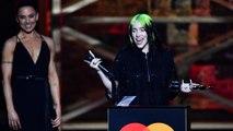 Billie Eilish très émue en recevant son prix lors des 2020 BRIT Awards