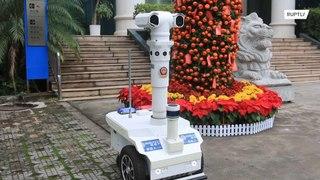 الصين: روبوت لكشف فيروس الكورونا !!!