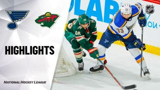 NHL Highlights | Blues @ Wild 2/23/20