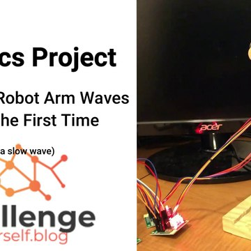 Robotics: Homemade Robot Arm Waving (Slowly)