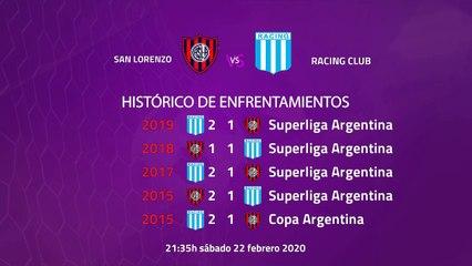 Previa partido entre San Lorenzo y Racing Club Jornada 21 Superliga Argentina