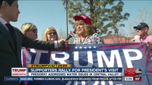 Over a thousand President Trump supporters were at Meadows Field Airport awaiting his arrival