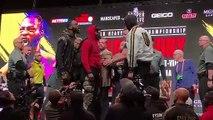 Deontay Wilder et Tyson Fury se bousculent et s'insultent en conférence de presse