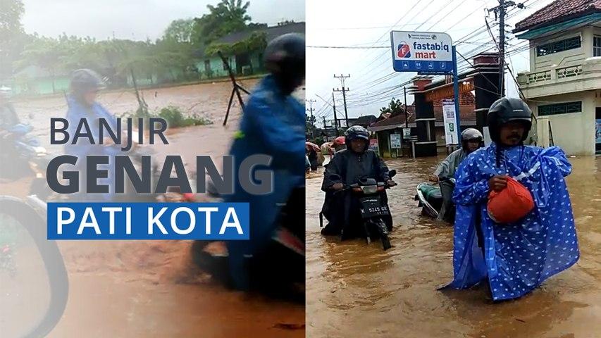 Sejumlah Ruas Jalan Utama di Pati Kota Tergenang Banjir, Kedalaman Air hingga 60 Centimeter