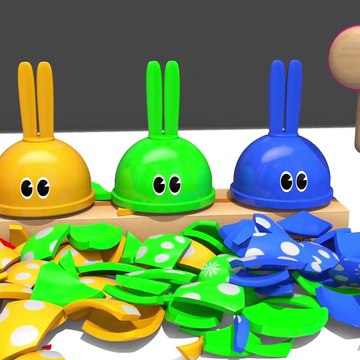 Learn Colors With Animal - Learn Colors with Microwave Toy and Bunny Mold Squishy Balls Nursery Rhymes for Kids Children