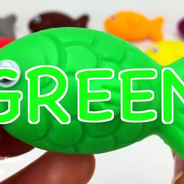 Learn Colors With Animal - Learn Colors with 9 Color Play Doh and Sea Animals Molds