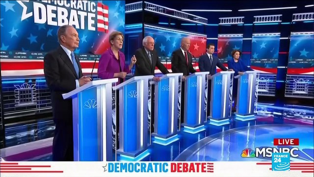 Democratic Debate: contenders round on billionaire Michael Bloomberg
