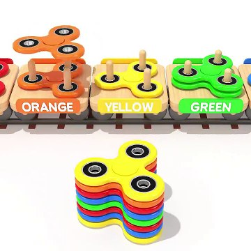 Learn Colors with Fidget Spinner and Toy Train for Kids